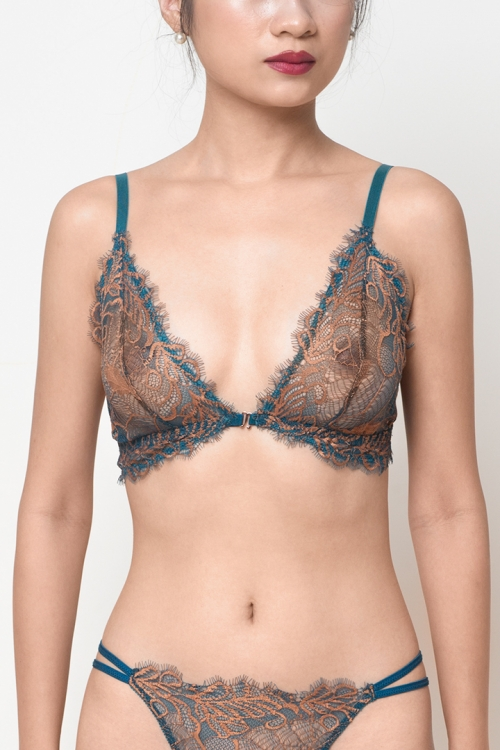 Leaf Lace Bra