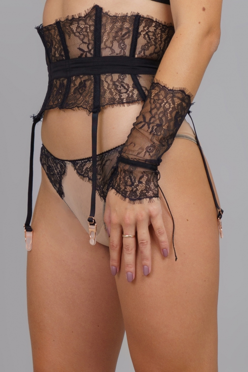 BLACK ANGEL TULLE THONG